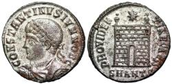 Ancient Coins - Constantine II campgate from Antioch...silvered