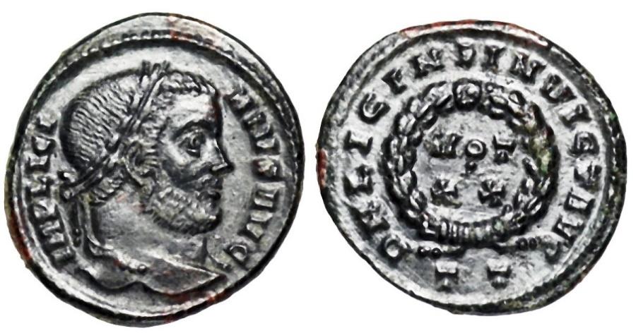 Ancient Coins - Licinius I VOT XX from Ticinum...INVICT