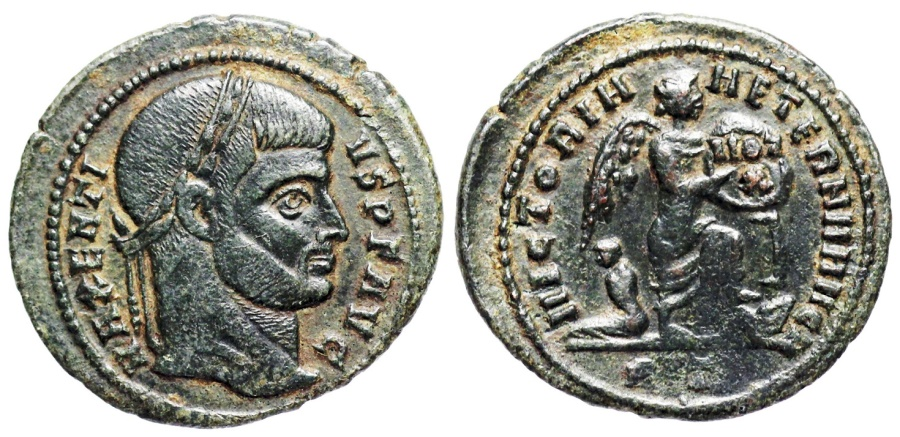 Ancient Coins - Maxentius VICTORIA AETERNA AVG N from Rome