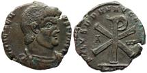 Ancient Coins - Magnentius SALVS DD NN AVG ET CAES from Trier...Chi-Rho reverse