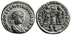 Ancient Coins - Constantine II VLPP from Lyons with 2 captives in mintmark
