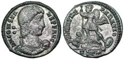 Ancient Coins - Constans FEL TEMP horseman from Thessalonica