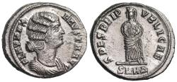 Ancient Coins - Fausta SPES REIPVBLICAE from Heraclea