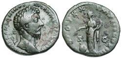 Ancient Coins - Marcus Aurelius sestertius Providentia reverse from Rome