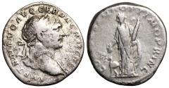 Ancient Coins - Trajan COS V P P S P Q R OPTIMO PRINC; Arabia denarius from Rome