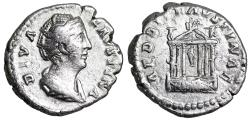 Ancient Coins - Faustina I AED DIV FAVSTINAE denarius from Rome