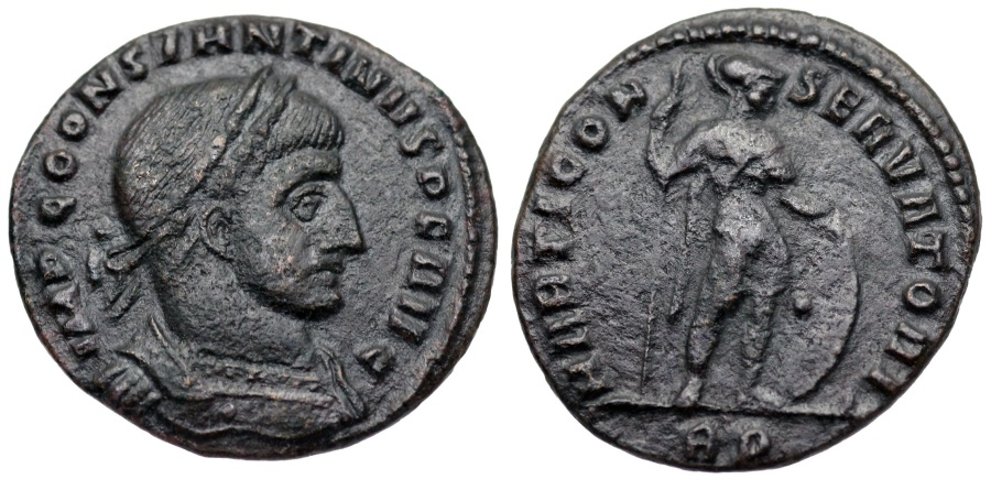 Ancient Coins - Constantine I MARTI CONSERVATORI from Rome