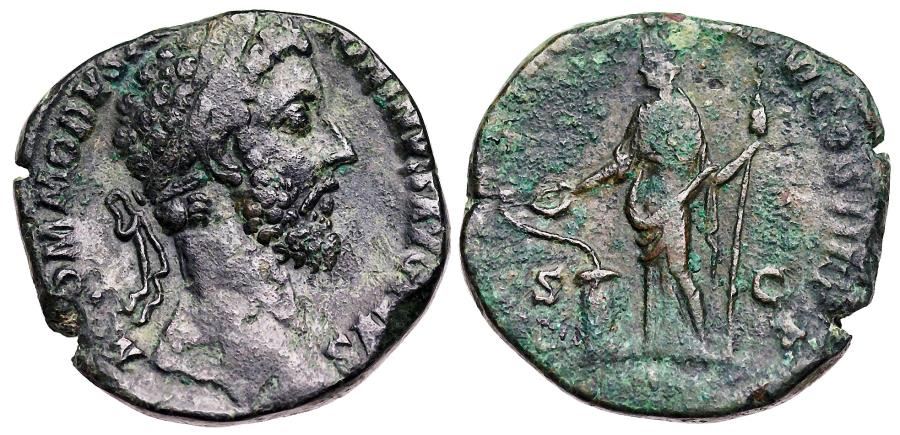 Ancient Coins - Commodus SALVS sestertius from Rome