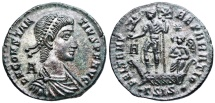 Ancient Coins - Constantius II FEL TEMP galley from Siscia