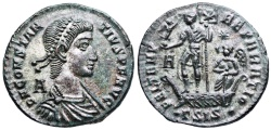Ancient Coins - Constantius II FEL TEMP galley from Siscia