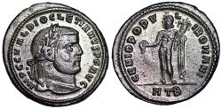 Ancient Coins - Diocletian GENIO POPVLI ROMANI from Heraclea