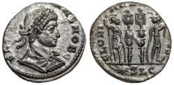 Ancient Coins - Constans GLORIA EXERCITVS from Lyons...unlisted workshop