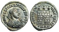 Ancient Coins - Licinius II campgate from Heraclea