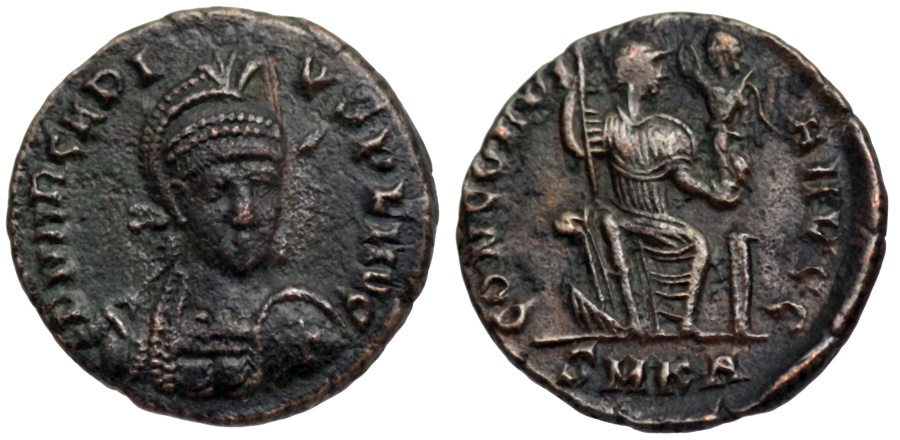 Ancient Coins - Arcadius CONCORDIA AVGGG from Cyzicus