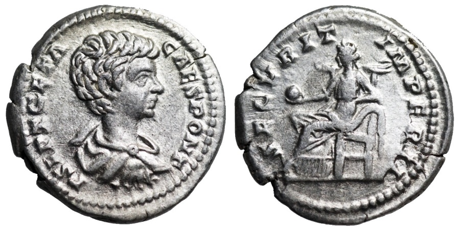 Ancient Coins - Geta SECVRIT IMPERII from Rome
