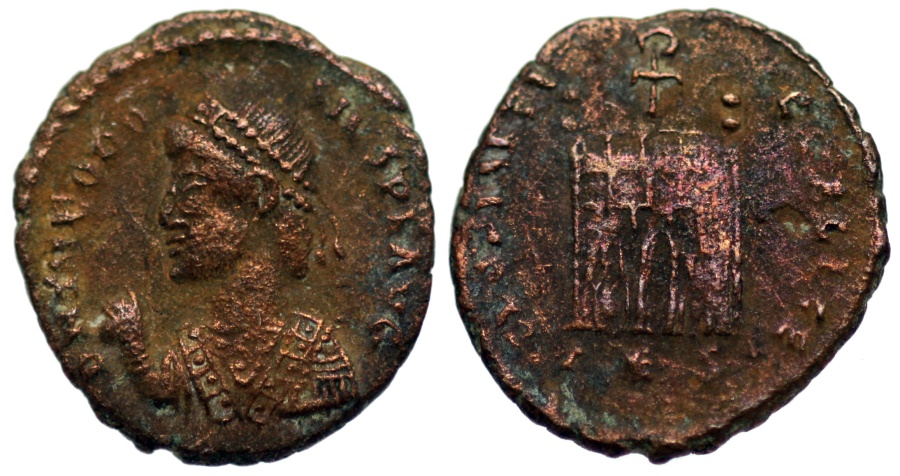 Ancient Coins - Theodosius I GLORIA REIPVBLICE from Thessalonica…rare bust type