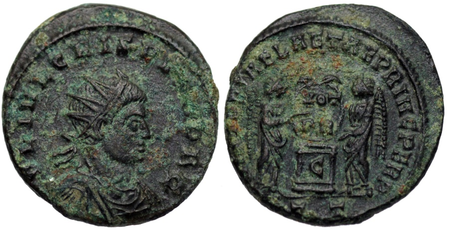 Ancient Coins - Crispus VLPP from Ticinum...radiate bust