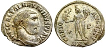 Ancient Coins - Maximinus II GENIO AVGVSTI from Antioch…silvered