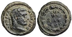Ancient Coins -  Constantius I VOT XX fraction from Trier