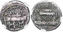 Ancient Coins - Q. Pompeius Rufus [54 B.C.] Roman Republic denarius