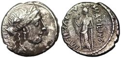 Ancient Coins - Roman Republic 49 BC Glabrio with Valetudo (Salus) reverse