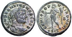 Ancient Coins - Constantius I GENIO POPVLI ROMANI from Siscia
