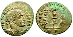 Ancient Coins - Constantine I  SPQR OPTIMO PRINCIPI  from Rome...eagle with spread wings