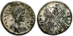 Ancient Coins - Crispus VIRT EXERC from Thessalonica