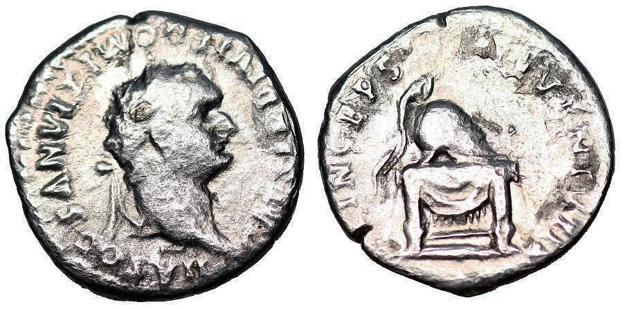 Ancient Coins - Domitian PRINCIPI IVENTVTIS from Rome