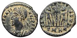Ancient Coins - Constantine II as Augustus...GLORIA EXERCITVS from Cyzicus...Not in RIC