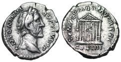Ancient Coins - Antoninus Pius TEMPLVM DIV AVG REST from Rome