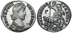 Ancient Coins -  Constantius II FEL TEMP horseman from Constantinople
