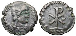 Ancient Coins - Magnentius SALVS DD NN AVG ET CAES from Lyons...Chi-Rho reverse