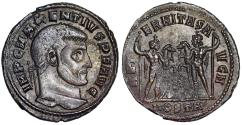 Ancient Coins - Maxentius AETERNITAS AVG N from Ostia…faint wolf and twins