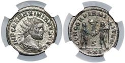 Ancient Coins - Maximianus CONCORDIA MILITVM from Cyzicus...NGC certified MS