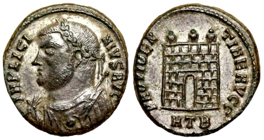 Ancient Coins - Licinius I campgate from Heraclea