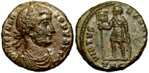 Ancient Coins - Vetranio VIRTVS EXERCITVM from Thessalonica