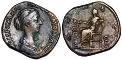 Ancient Coins - Crispina SALVS sestertius from Rome