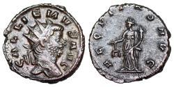 Ancient Coins - Gallienus AEQVITAS AVG from Rome… retrograde N