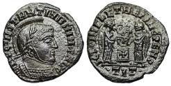 Ancient Coins - Constantine I VLPP from Ticinum with cross on altar...unofficial issue