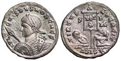 Ancient Coins - Crispus VIRTVS EXERCIT from Siscia