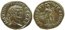Ancient Coins - Galerius  GENIO POPVLI ROMANI  early Rome issue as Caesar