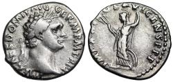 Ancient Coins - Domitian IMP XXI COS XVI CENS P P P; Minerva reverse from Rome