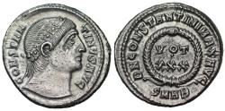 Ancient Coins - Constantine I VOT XXX from Heraclea...eyes to Heaven
