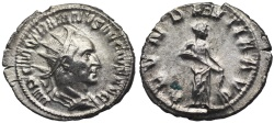 Ancient Coins - Trajan Decius ABVNDANTIA from Rome...interesting reverse engraving