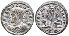 Ancient Coins - Crispus VIRTVS EXERCIT from Thessalonica