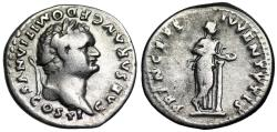 Ancient Coins - Domitian PRINCEPS IVVENTVTIS from Rome
