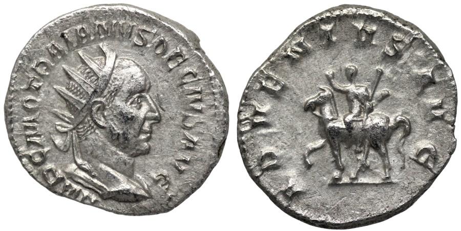 Ancient Coins - Trajan Decius ADVENTVS AVG from Rome