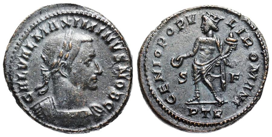 Ancient Coins - Maximinus II GENIO POPVLI ROMANI from Trier