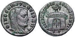 Ancient Coins - Constantius I MEMORIA DIVI CONSTANTI from Ticinum